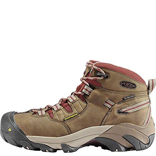 KEEN Utility Women's Detroit Mid Steel Toe Work Boot,Black Olive/Madder Brown,8 M US Detroit Mid Soft Toe-W