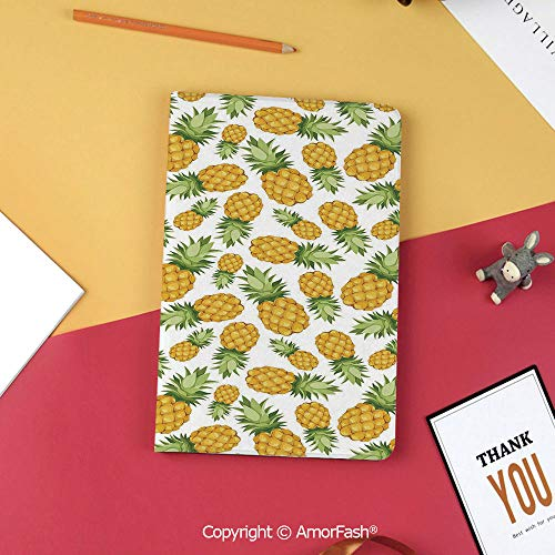 (Case for Samsung Galaxy T820 T825 Slim Folding Stand Cover PU Tab S3 9.7,Yellow and White,Pine Tropical Climate Fruits Sweet Ripe Juicy Food,Earth Yellow Green White)
