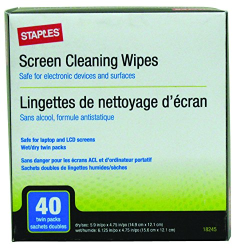 staples-screen-cleaning-wipes-40-twin-pack-18245