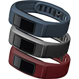 Garmin vívofit 2 Wrist Bands (Small) (Burgundy/Slate/Navy), Pack of 3