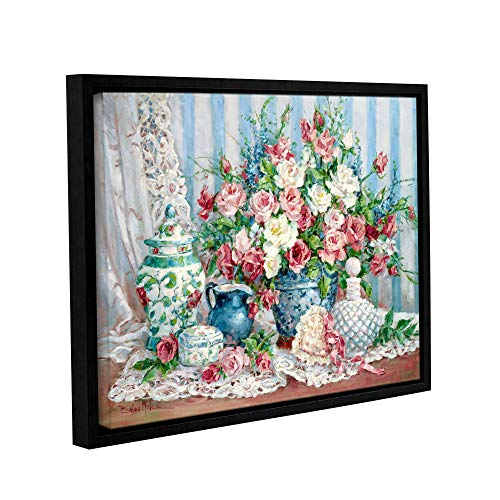 ArtWall Barbara Mock's Roses & Romance, Gallery Wrapped Floater-Framed Canvas 24 x 32