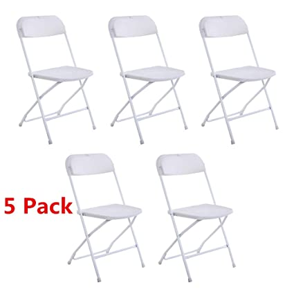 Astounding Amazon Com Moonbuy 5Pcs Portable Plastic Folding Chairs Ocoug Best Dining Table And Chair Ideas Images Ocougorg