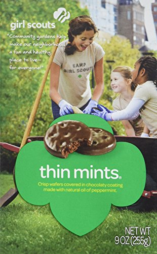One Case of Girl Scout Cookies THIN MINTS (12 Boxes in Total) by Girl Scout Thin Mint Cookies