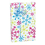 Snowflake Jubilee Holiday Gift Wrap Roll - 24 Inches x 417 Feet Long (2 Rolls)