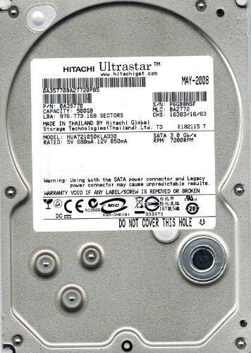 Hitachi HUA721050KLA330 P//N BA2772 500GB 0A35770 MLC