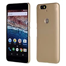 Nexus 6P Case,Gift_Source [Gold] [Slim Fit] Premium Rubber Fashion Colorful Matte Hard case cover Non Slip Rubber Protective for Huawei Google Nexus 6P (2015)