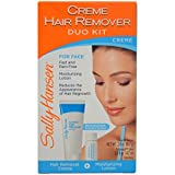 Hair Removal Without Wax - Sally Hansen Cream Hair Remover Kit, Mess-Free Lotion Formula Removes Unwanted Hair of the Face and Body, No Strips, No Applicators, Use on Face Eyebrows Lip Chin Legs Bikini Area Arms Underarms Legs