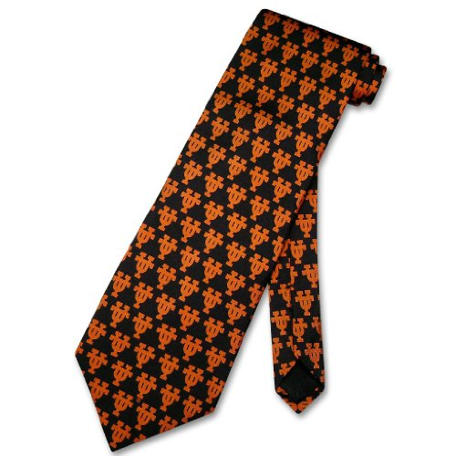 Texas Silk (UNIVERSITY OF TEXAS Neck Tie SILK Men's College NeckTie)