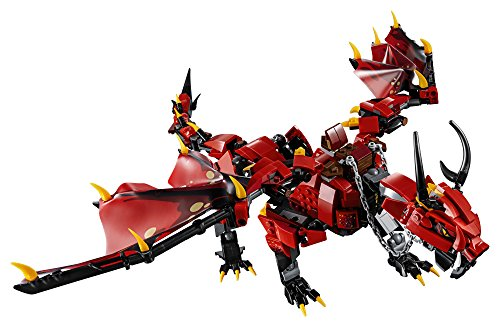 51gtCwPCBpL - LEGO NINJAGO Masters of Spinjitzu: Firstbourne 70653 Ninja Toy Building Kit with Red Dragon Figure, Minifigures and a Helicopter (882 Pieces)