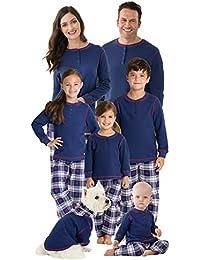 Family Christmas Pajamas Set - Snowfall Plaid Matching...