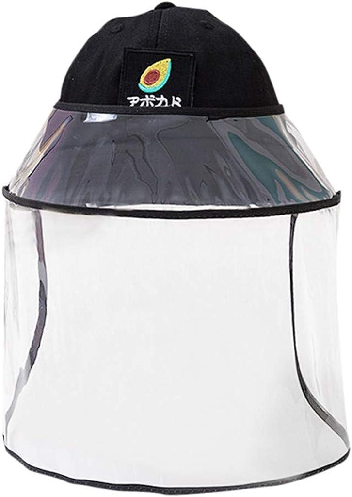 HLIYY Chapeau de Protection Plein Visage Chapeau Pr/évenir la Casquette Anti-poussi/ère et Brouillard Polluant Chapeau de P/êcheur Casquette Visi/ère Transparent Face Shield