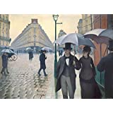 Posters: Gustave Caillebotte Poster Art Print - Paris Street, Rainy Day, 1877 (32 x 24 inches)