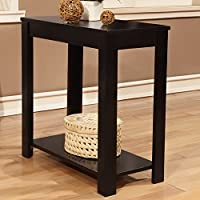 Metro Shop Black Wooden Chair Side End Table-Black Chair Side Table