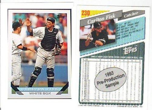 Carlton Fisk Chicago White Sox 1993 Topps Preview - Promo Baseball Card