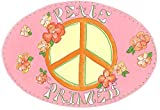 Baby : The Kids Room by Stupell Peace Princess with Flowers Oval Wall Plaque