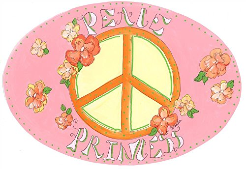 The Kids Room by Stupell Peace Princess with Flowers Oval Wall Plaque by The Kids Room by Stupell