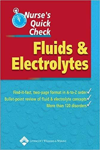 Nurse's Quick Check: Fluids and Electrolytes by Springhouse (2005-03-28)