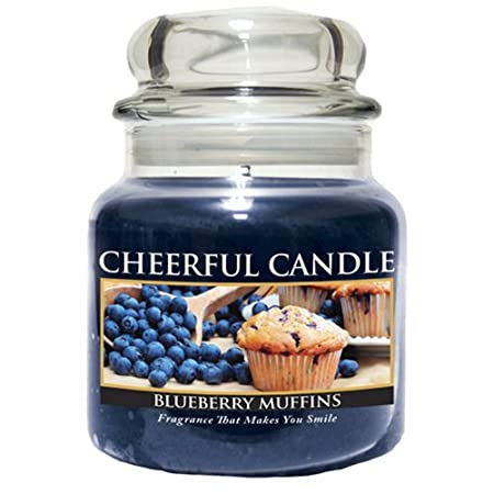 A Cheerful Giver 6-Ounce Blueberry Muffins Cheerful Jar Candle