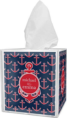 RNK Shops All Anchors Tissue Box Cover (Personalized)