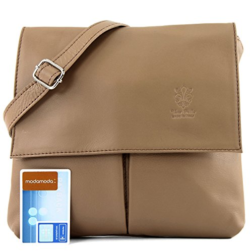 real T63 Toffee women's leather bag satchel Italian messenger bag shoulder bag xzUpR0nwSq