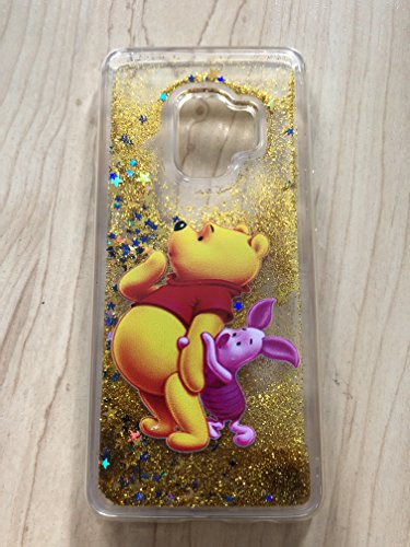 (Galaxy S9 Case, Winnie The Pooh Sparkle Liquid Glitter Quicksand Case For Samsung Galaxy S9 Ship From NY# 4)