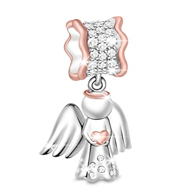 1fc62741504a3 GNOCE Women's Bead Charms 925 Sterling Silver Pendant Charm for Women DIY  Jewelly Bead Charms Fit Bracelets Necklace