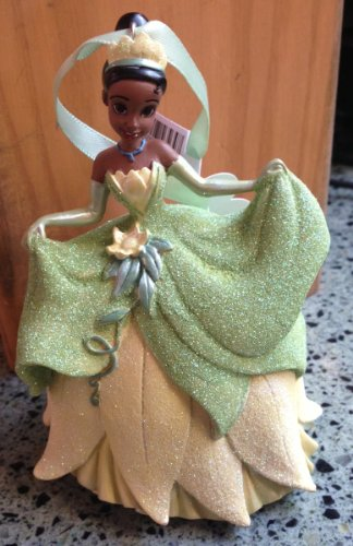 (Disney Parks Frog Princess Tiana Glitter Figurine Ornament NEW RELEASE)