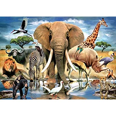 TDC Games World's Smallest Jigsaw Puzzle - African Oasis: Arts, Crafts & Sewing