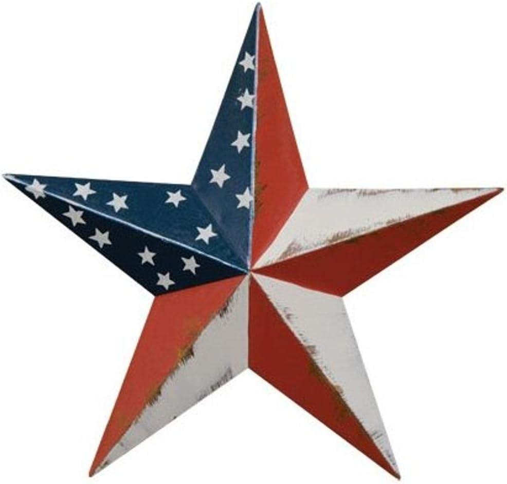 CWI Gifts Americana Barn Star Wall Décor Set, 3.5-Inch, 1 - piece