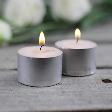 Vendoz Wax Tealight Candles -9 Hours Burning, (Set of 50, Unscented)