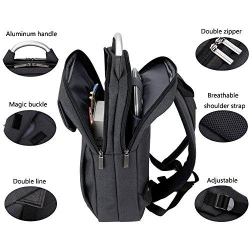 Mochila Mochilas Backpack Portátiles Laptop Escolares 6 Gris Impermeables 15 Para Negocio rqrHxA1w