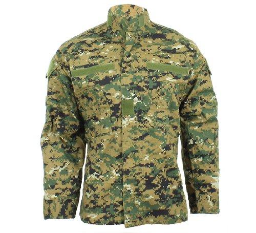 MFH - Giacca militare in tessuto antistrappo, design esercito USA, fantasia camouflage