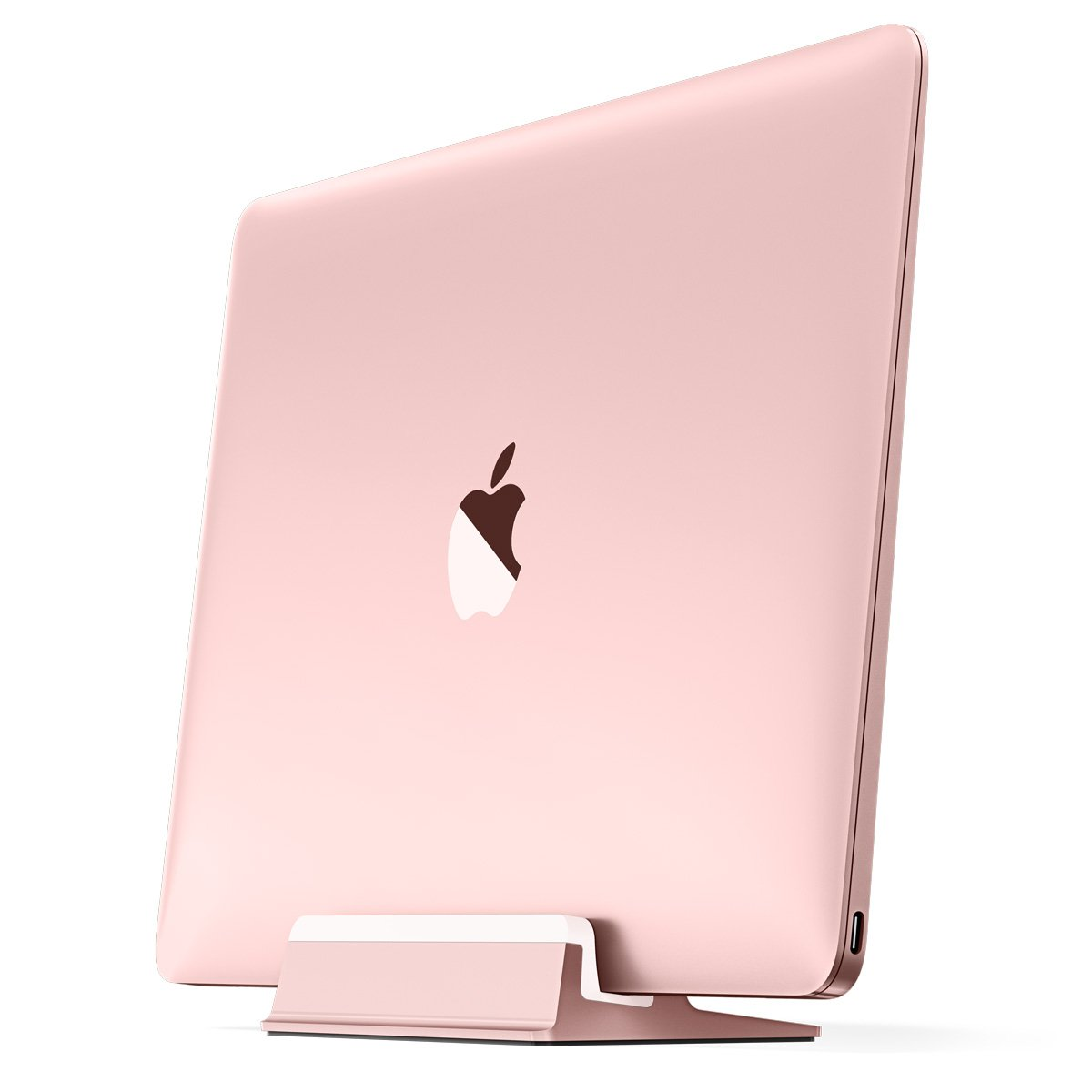 UPPERCASE KRADL Aluminum Vertical Stand for MacBook 12'', Rose Gold/White