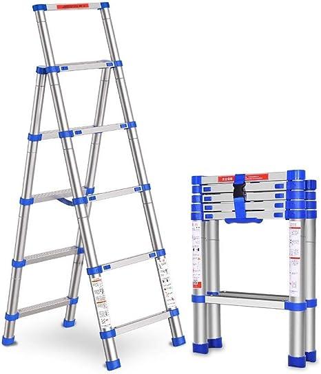 Ibuprofen Escalera de Tijera Escalera Escalonada Escalera de Uso Doméstico Escalera Plegable Escalera de Aleación de Aluminio Grueso Elevación de la Escalera de Ingeniería Telescópica: Amazon.es: Deportes y aire libre
