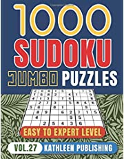 1000 Sudoku Puzzle Books: Jumbo Sudoku Puzzle Books | 4 diffilculty - Easy Medium Hard for Beginner to Expert | Brain Game for adults | Perfect Gift for Senior, adult, mom Made in USA | Vol. 27