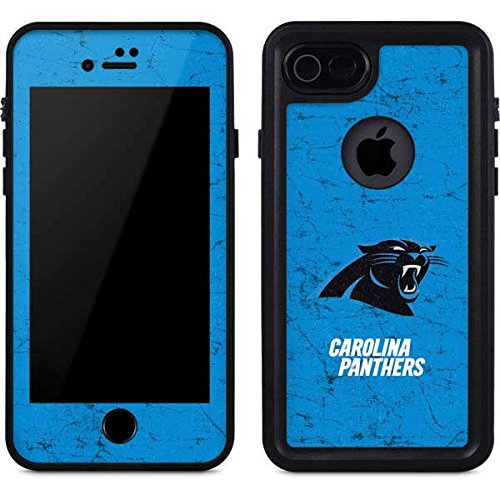 purchase cheap 9a049 3c8d5 Amazon.com: Skinit NFL Carolina Panthers iPhone 8 Waterproof Case ...