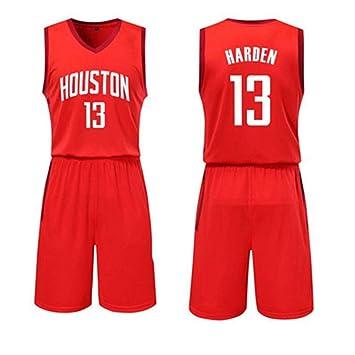 Camisetas De Fanáticos De La NBA Houston Rockets Harden Uniformes De Baloncesto Camisetas Adolescentes Chalecos De Entrenamiento Trajes De Competición