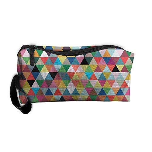 Kla Ju Portable Pencil Bag Purse Pouch Geometry Pattern Stationery Storage Organizer Cosmetic Holder