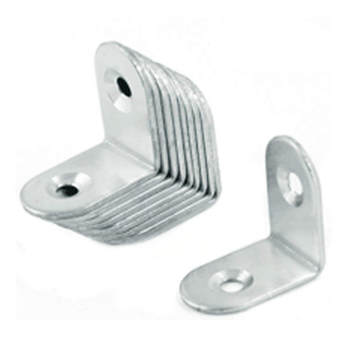 URBEST 10 Pcs 25mm x 25mm L Shape Stainless Steel Corner Brace Joint Right Angle Bracket