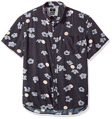 Quiksilver Pop - Quiksilver Men's Variable Shirt, Iron gate Cherry pop, L