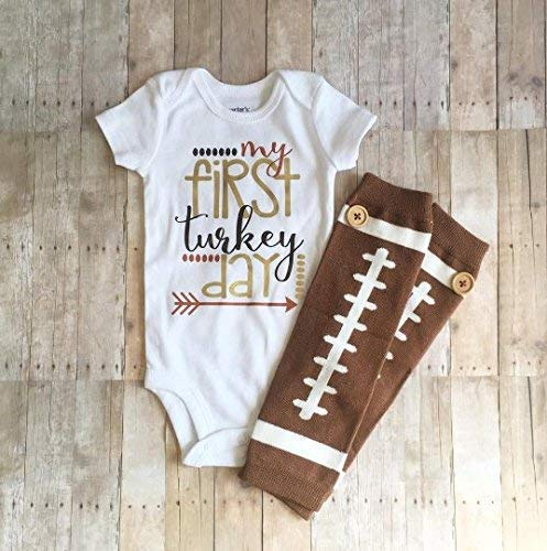 Boys 1st Thanksgiving Outfit, My First Turkey Day, Baby Boy Holiday Bodysuit, Turkey Day Outfit, Boys Baby Shower Gift, Boys Holiday Outfit