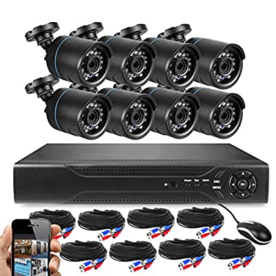 Best Vision 16-Channel HD DVR Security System with 8 1MP IR Outdoor Weatherproof Bullet Cameras, 1TB Hard Drive and Remote Surveillance from Best Vision Systems