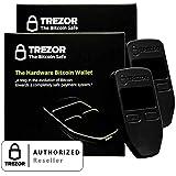 2 Pack Black Trezor Hardware wallet vault safe for digital virtual currency Bitcoin Litecoin