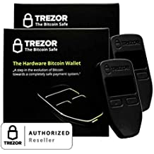 2 Pack Black Trezor Hardware wallet vault safe for digital virtual currency Bitcoin Litecoin