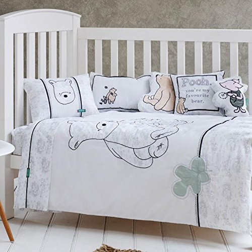 (LELVA Cotton Baby Bedding Cute Winnie the Pooh Pattern Bedding Children's Duvet Cover 2pcs)