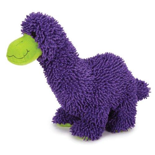 Zanies Moppy Fabric, Plush and Felt DinoMate Dog Toy, Brontosaurus, 10-1/2-Inch, My Pet Supplies