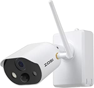 ZOSI C306 Wire Free Rechargeable Battery Powered 1080P Security Camera,80ft Night Vision, 2-Way Audio,Motion Detection, Spot Light, for Outdoor Indoor Home Office Surveillance,Cloud Storage/SD Slot