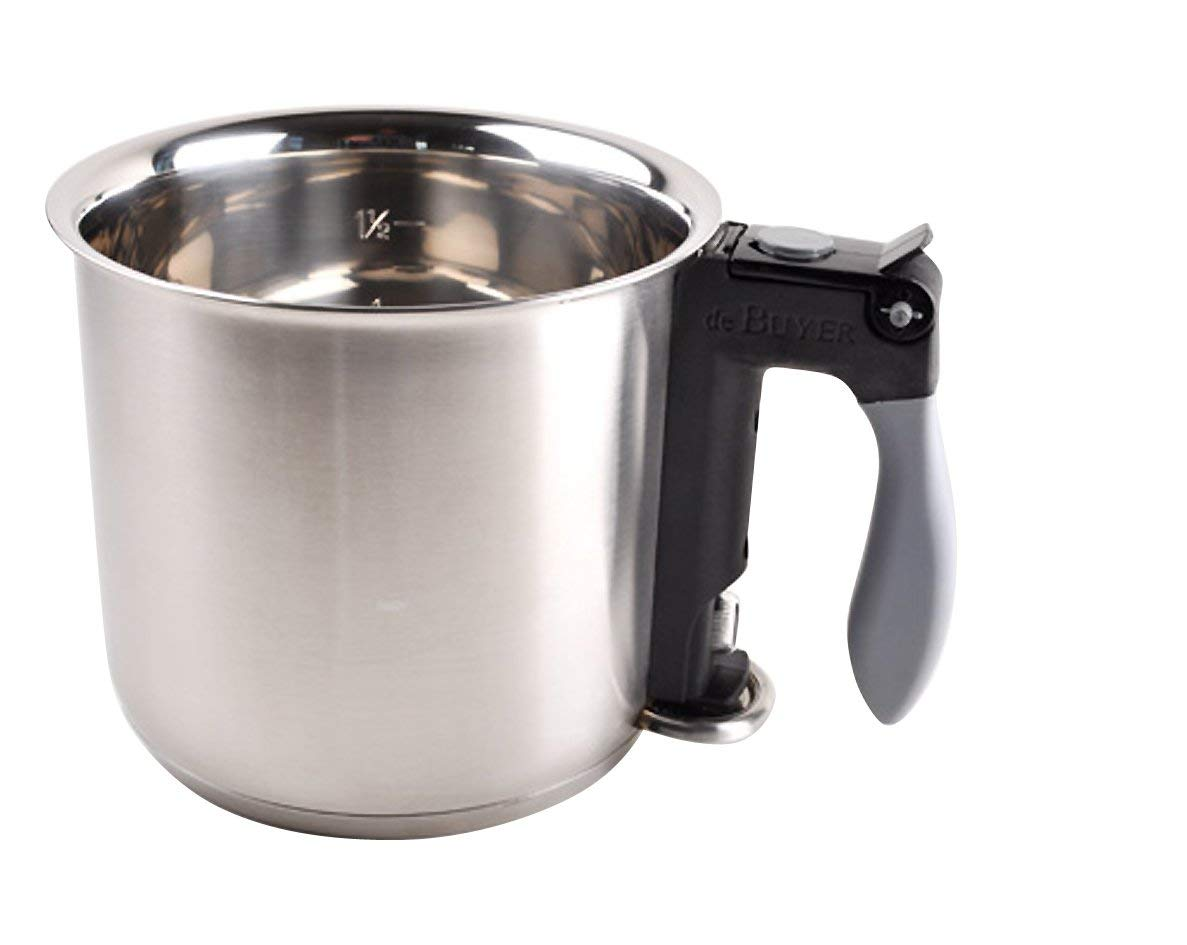DOUBLE BOILER ''Bain Marie'' with Silicone Handle, O 6.25-Inch, Capacity 1.6pt (Renewed)