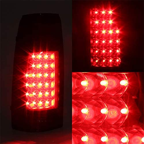 For Black Smoke 88-98 Chevy//GMC C//K 10 Tail Lights Brake Lamp Replacement Driver And Passenger Side
