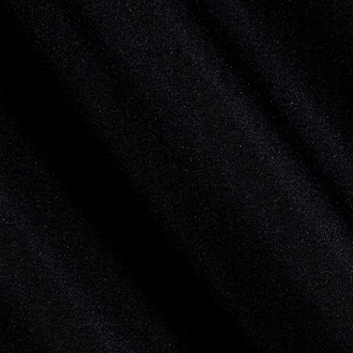 Hanes Serenity Blackout Drapery Black Fabric By The Yard (Blackout Cloth)